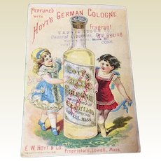 Victorian Trade Card Hoyt's German Cologne