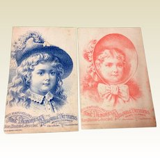 Set Of Two Victorian Trade Cards For Mme Demorst Reliable Patterns