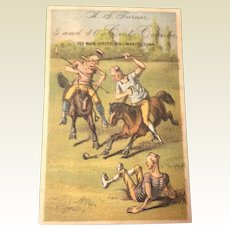 Victorian Trade Card For A. S. Turner 5 And 10 Cent Counter