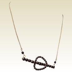Upcycled Vintage Bohemian Garnet Necklace