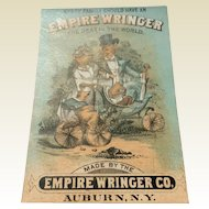 Vintage Advertising Trade Card For Empire Wringer Co.