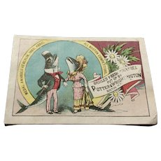 Victorian Trade Card For Potter & Wrighington