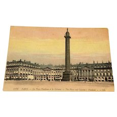 World War I Postcard The Palace And Column Vendome