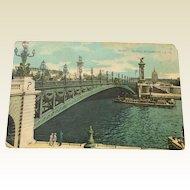 World War I Postcard Paris Le Pont Alexandre