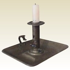 19th Century Brass Push-Up Candlestick