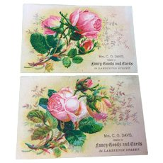 Set Of Two Victorian Trade Cards