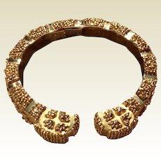 Fabulous Wander France 18 K Gold Clamper Bracelet