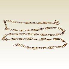 Vintage 24 K Gold Designer Chain