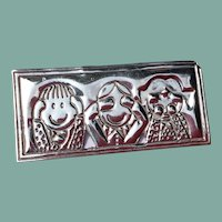 Vintage Mexican Sterling Silver Save The Children Brooch