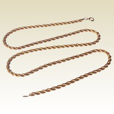 14 K Gold Filled 3 MM Robe Chain Necklace