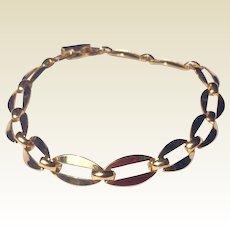 Vintage 14 K Gold Filled Flexible Link Bracelet
