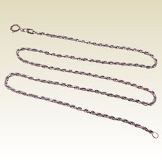 """Vintage Italian Sterling Silver 20"""" Rope Chain Necklace"""