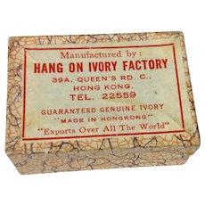Vintage Cardboard Hang On Ivory Factory Earring Display Box
