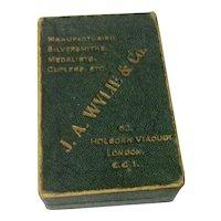 Vintage English J. A. Wylie & Co. Medal Display Box