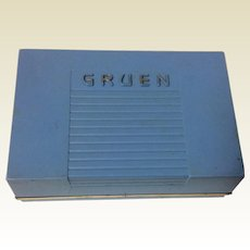 Vintage Gruen Watch Display Boxy