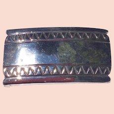 Vintage Early Large Sterling Silver Handmade Belt Buckle