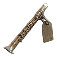 Vintage Sterling Silver New Orleans Saxaphone Charm