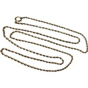 """Vintage Gold Filled 28"""" Rope Chain Necklace"""