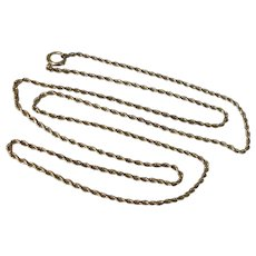 """Vintage Gold Filled 28"""" Rope Chain Necklace - Red Tag Sale Item"""