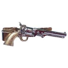 Vintage Six Shooter Revolver Tie Bar