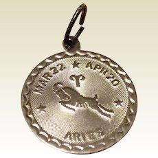 Vintage Sterling Silver Aries Charm