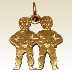 Vintage Gold Filled Krementz Boys Charm West Germany