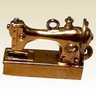 Wells Silver Gilt Sewing Machine Charm