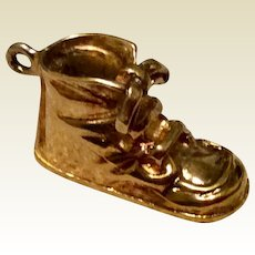 Vintage 12 K Gold Filled Baby Shoe Charm