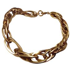 Vintage Carl Art 12 K Gold Filled Triple  Link Bracelet