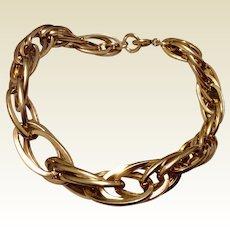 Vintage Carl Art 12 K Gold Filled Triple  Link Bracelet