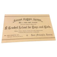 Victorian Crescent Academic Institute Calling Card