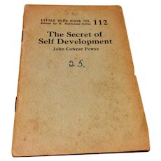 1920's - 1930's Little Blue Book No. 112 The Secret Of Self Development