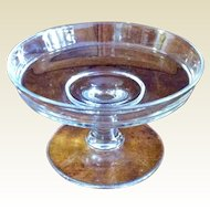 Vintage Clear Glass Small Footed Compote
