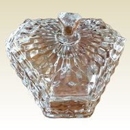 Clear Pressed Glass Lidded Candy Dish
