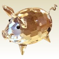 Retired Swarovski Crystal  Medium Pig