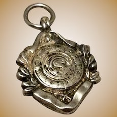English Sterling Silver Fob or Medal