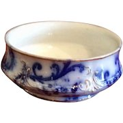 Vintage Mercer Semi Vitreous Flo Blue Bowl