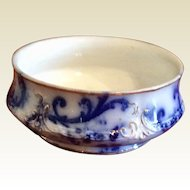 Vintage Mercer Semi Vitreous Flo Blue Bowl