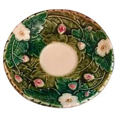 French Majolica Saucer - Red Tag Sale Item