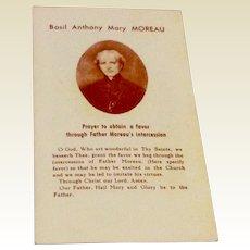 Father Anthony Mary Moreau Prayer Card & Reliquary