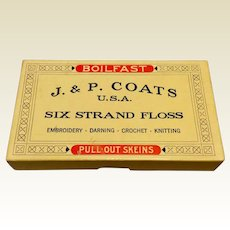 J. & P. Coats Six Strand Floss Box