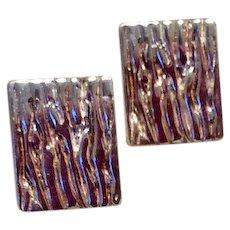 Pierced Sterling Silver Earrings
