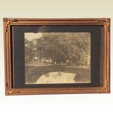 Vintage Ornate Brass Metal Photo Frame