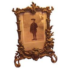 Ornate French Brass Photo Frame