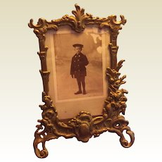 Ornate French Brass Photo Frame