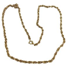 """12K Gold Filled 24"""" Chain Necklace"""