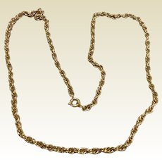 "12K Gold Filled 24"" Chain Necklace"