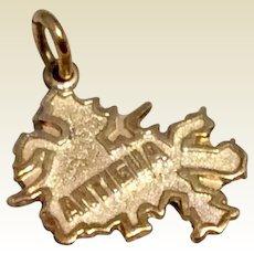 Antigua 14K Gold Travel Souvenir Charm