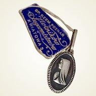 Virgin Mary Art Deco Sterling Silver Medal