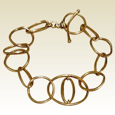 Silver Gilt Flexible  Link Bracelet